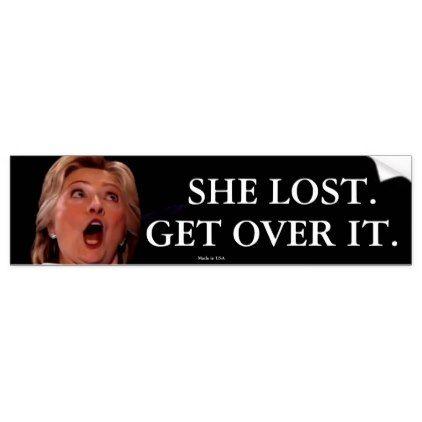 Anti-Hillary Clinton Bumper Sticker - craft supplies diy custom design supply special