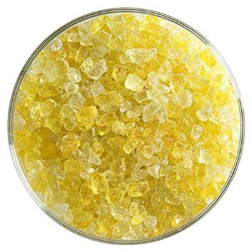 Marigold Yellow Transparent Coarse Frit - 4oz - 90COE - Made From Bullseye Glass