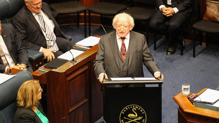Australian History since colonisation has been written by the victors — by those who wrote Indigenous peoples out of the story by declaring 'terra nullius'. But this narrative is being challenged. Most recently, by an unexpected contributor to the debate: the President of Ireland, Michael Higgins.