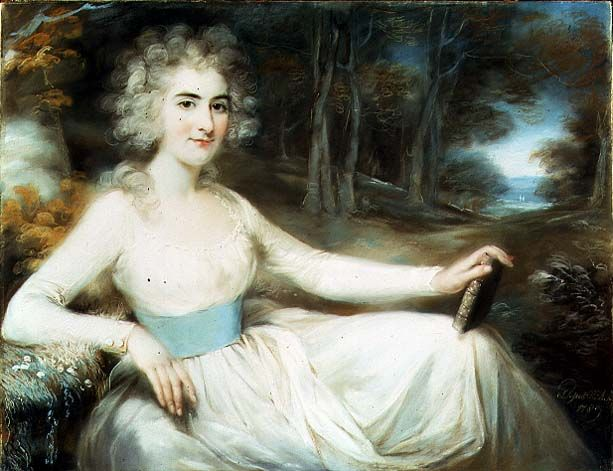 John Russell, Portrait of Miss Harriet Read, 1789, Painting Reproduction.