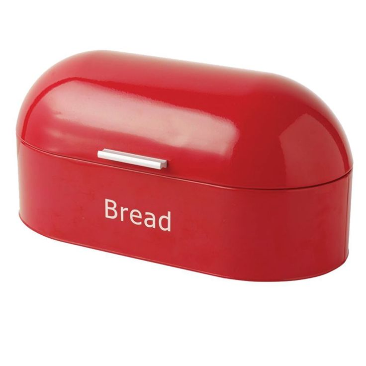Retro Bread Bin Red Steel Kitchen Top Storage Loaf Box Tin New By Home