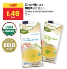 Best Price: Aldi SimplyNature Organic Chicken Broth- Stock up Price NO Coupons Needed