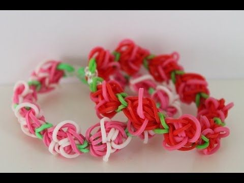 (al gemaakt) Rainbow Loom Nederlands, rosegarden armband  - YouTube