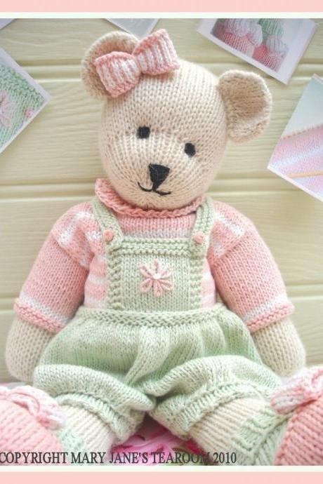 CANDY Bear/ Toy/ Teddy Knitting Pattern/ pdf /EMAIL Pattern plus FREE 'Handmade Shoes' knitting pattern