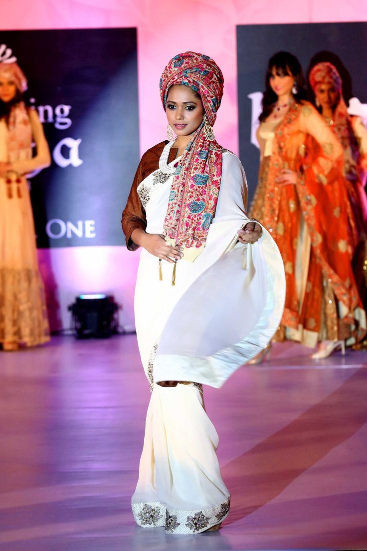 Yashaashvi Singh in Ivory saree studded with heavy kashmiri hand embroidery border - StudioAV by GauravnNitesh