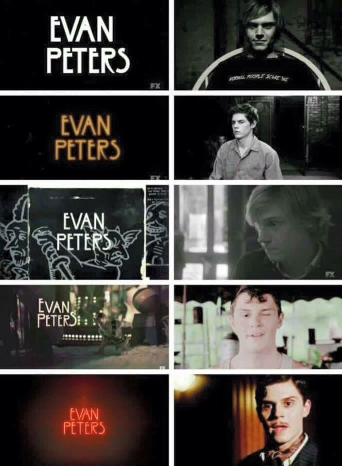 Evan Peters in American Horror Story; to play such a variety of characters all so well is truly talent