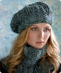 Tahki Stacy Charles Sandra Cabled Cowl and Beret