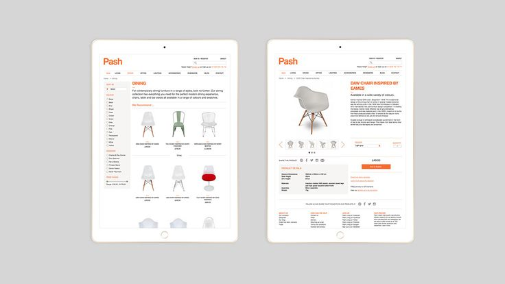 Pash Living Identity, Website and Print Materials on Behance