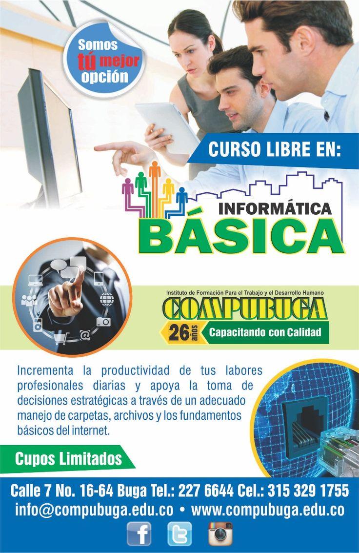 ¡GRAN OPORTUNIDAD! no la desaproveches. Empezamos nuestro curso de informática básica. No te quedes sin aprender. #compubuga #buga #informáticabásica #ciudadanodigital
