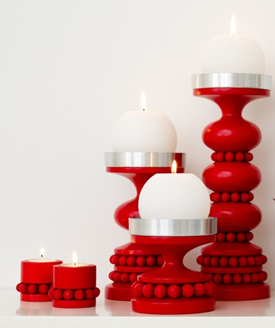 Christmas candle holders by Aarikka  www.aarikka.com - Helsinki, Finland (found under Koti)