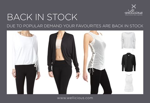 BACK IN STOCK!  Due to popular demand, we have brought back our Mesh Tank Top, Embrace Yourself Shrug and the gorgeous Batwing Jumper! These neutral styles are perfect for the Spring weather!   Check them out now: www.wellicious.com/mesh-tank.html www.wellicious.com/embrace-yourself-shrug.html www.wellicious.com/batwing-jumper.html