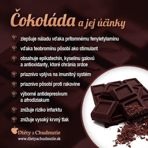 Čokoláda a jej účinky na chudnutie a zdravie človeka