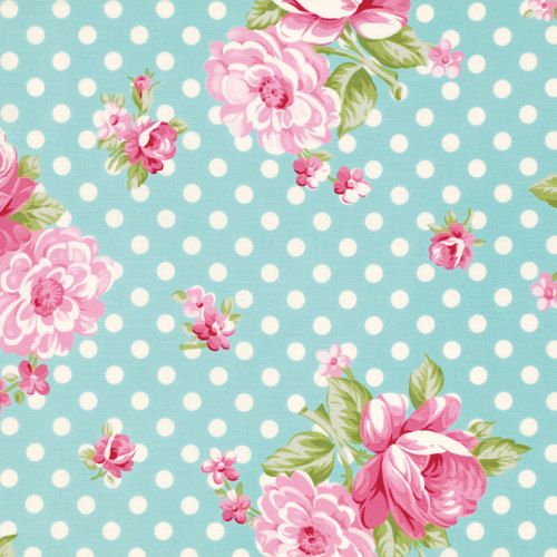 Roses and Mums in Teal (pwtw061) - ROSEY by Tanya Whelan - Free Spirit Fabric - 1 yard on Etsy, $11.32 CAD