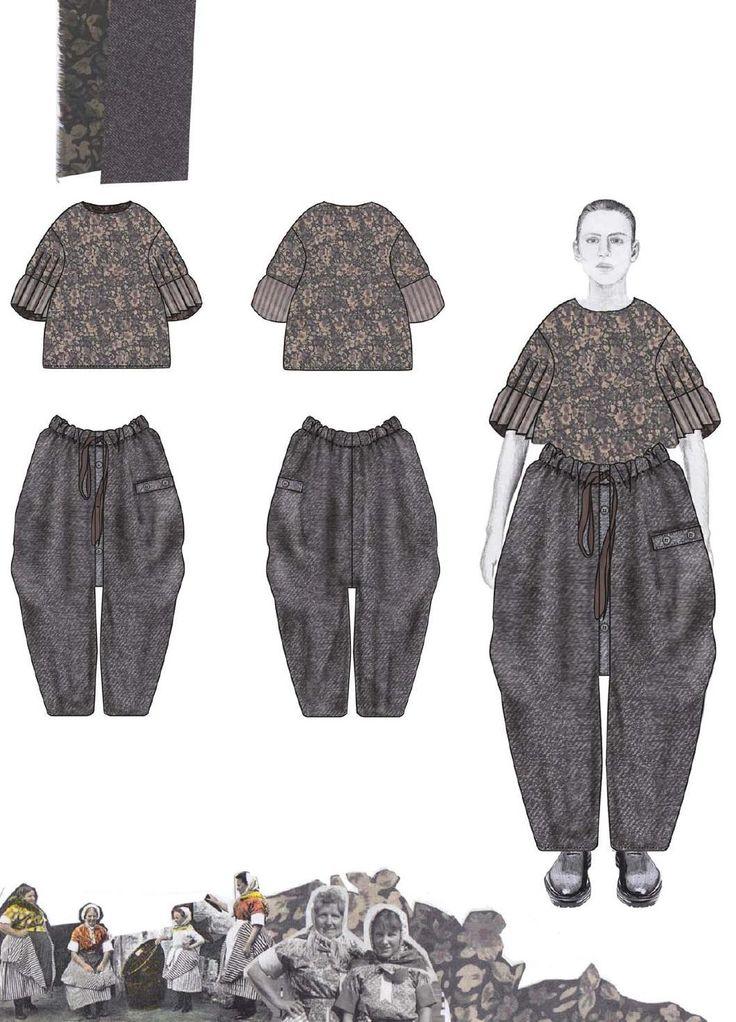 Fashion Sketchbook - fashion illustrations for oversized tailoring; fashion portfolio // Caroline Day