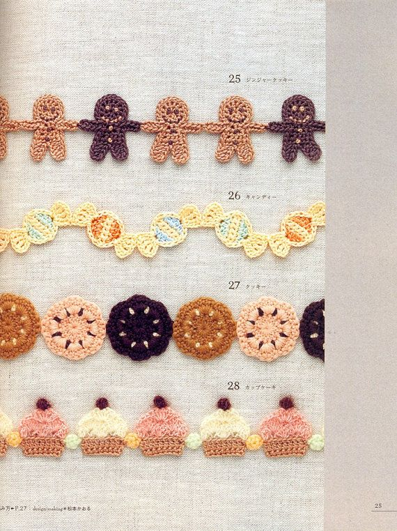 adorable edgings for sweaters, skirts, etc.