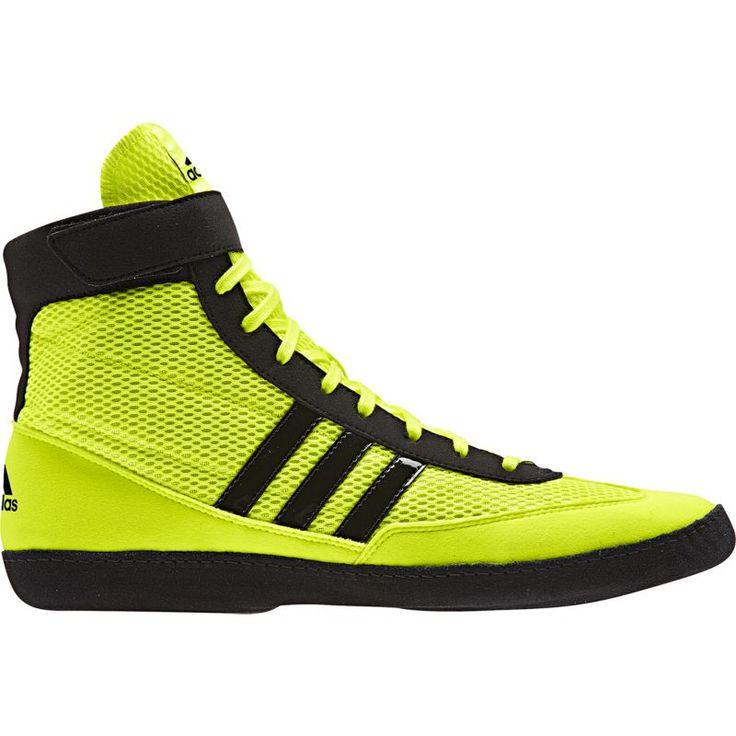 adidas Men's Combat Speed IV Wrestling Shoe, Size: 10.5, Solar Yellow/Black