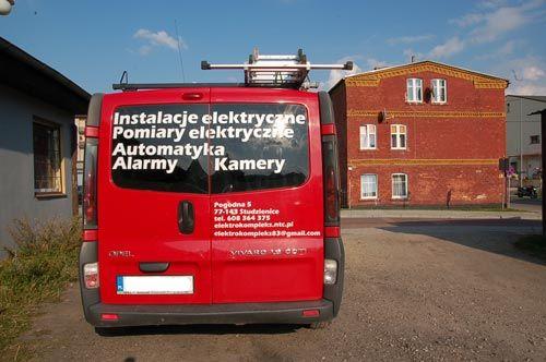 Oklejanie pojazdu firmowego Opel Vivaro dla firmy Elektrokompleks