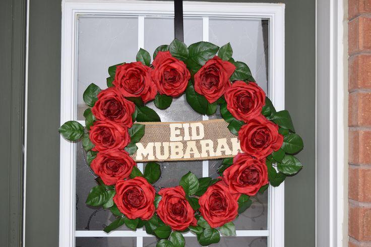 Eid Mubarak Rose Wreath by MaleehasArtsCrafts on Etsy