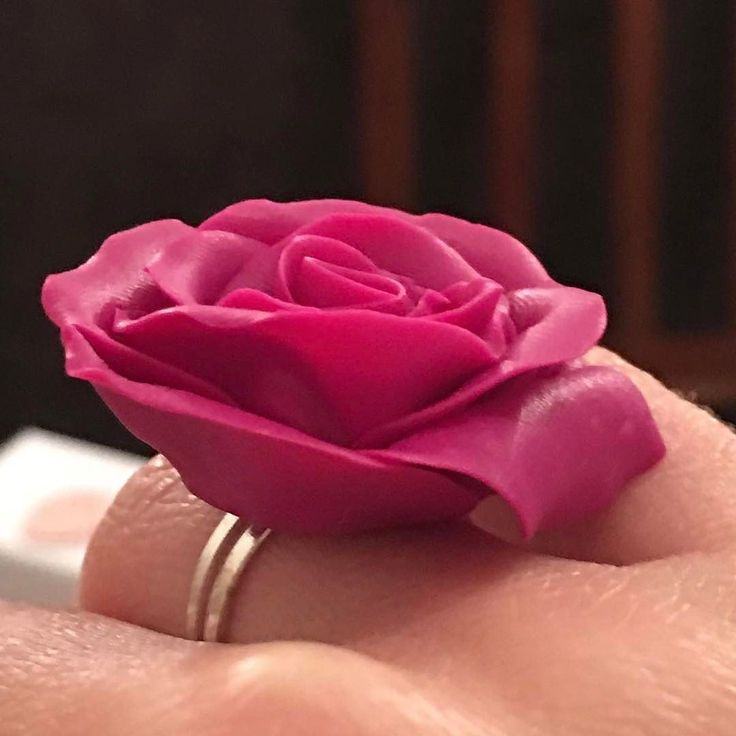 Rose on #sale 10. #rose #pink #ring #polymerclay #agapeartbya #polymerclayjewelry #today #discounts