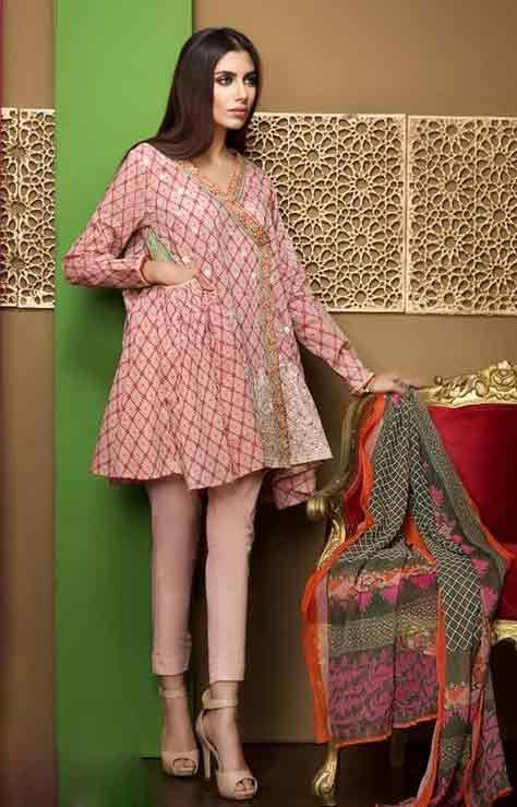 84777f1f20 Pakistani Lawn Dresses Stitching Designs For Girls In 2019 in 2019 ...
