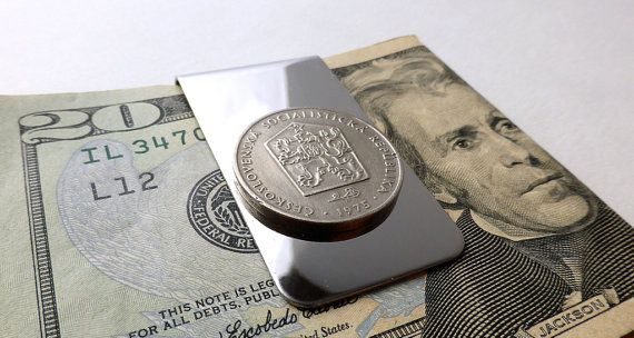 Money Clip Czechoslovakian Coins Money Men's by CoinStories