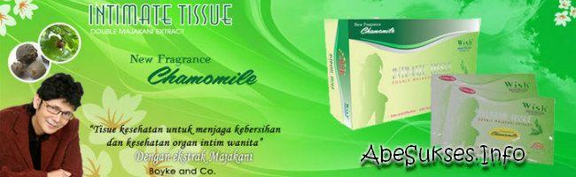 Tisu Majakani merupakan produk kesehatan wanita yang diproduksi oleh Boyke & Co. Tissue Dobel Majakani (Tisu Majakani) adalah tissue kesehatan yang digunakan untuk menjaga kebersihan dan kesehatan organ intim.