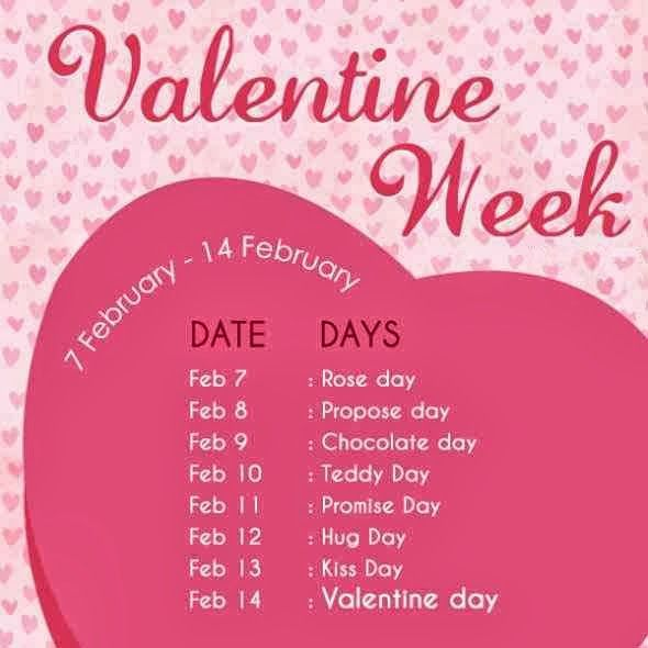 Valentine Week List 2017 Dates Schedule Rose Day Propose Day Hug Day Kiss Day Chocolate Day Full list.