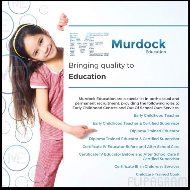 Join the team at Murdock Education WA. We are currently looking for relief