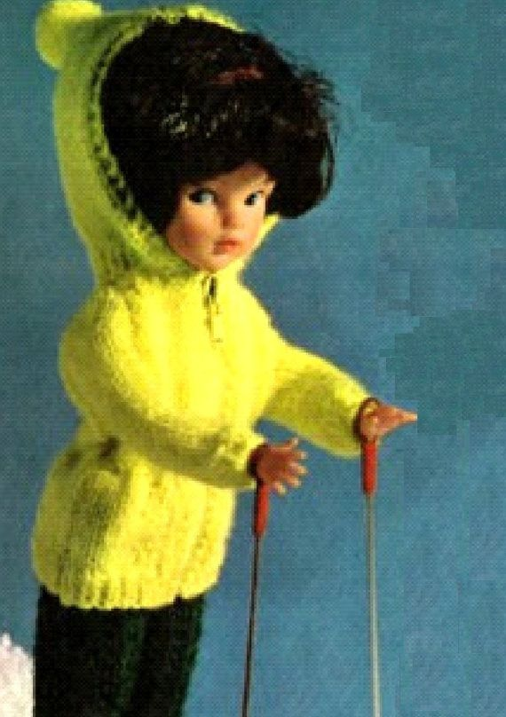 Free Sindy Doll Knitting Patterns : VINTAGE knitting pattern pdf, Sindy dolls ski set jacket ...