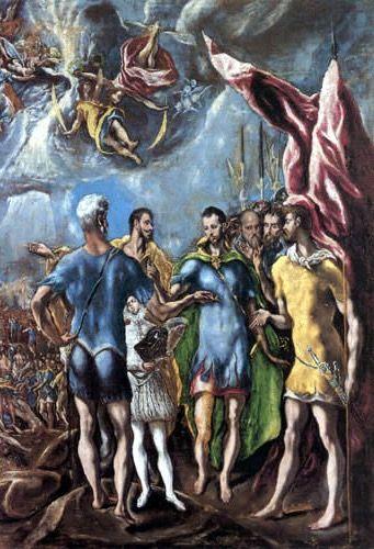 El martirio de san mauricio el greco study composition