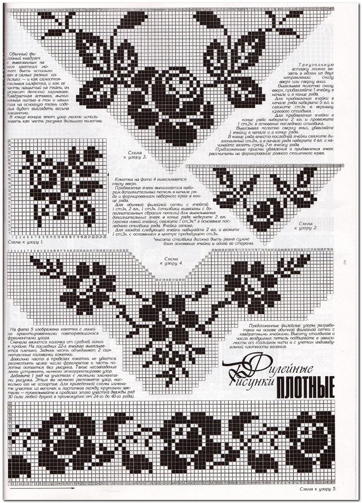 filet crochet neckline