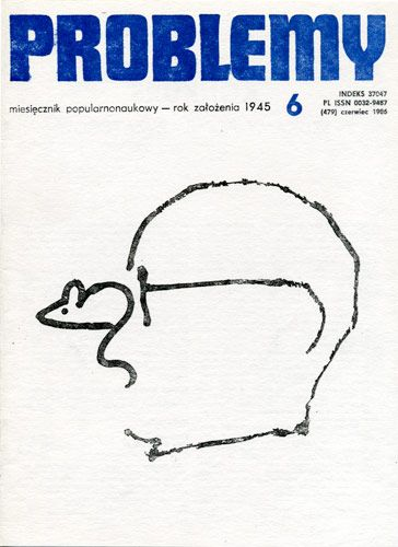 Magazyn Problemy, okładka, 1986