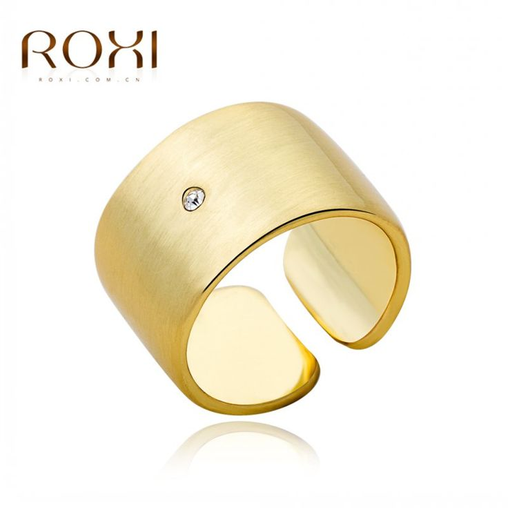 ROXI Brand Classic Genuine Summer Gift Austrian Crystals Sample Sales Gold Plated Finger Rings Fashion Party Jewelry