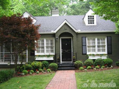 Exterior House Colors With Brick best 20+ brick house colors ideas on pinterest | painted brick