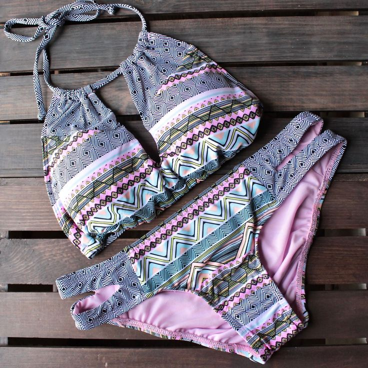 bikini lab - mix & match let it deco high neck halter (top only) - shophearts - 1