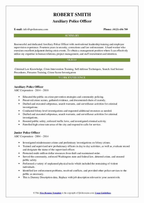 Police Officer Resume Examples New Police Ficer Resume Samples In 2020 Teacher Resume Examples Resume Examples Good Resume Examples