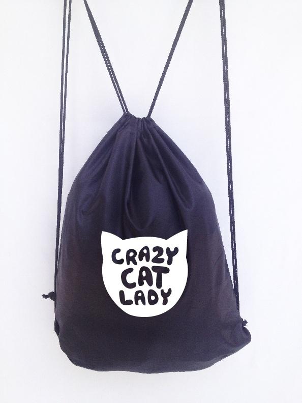 Mochila Crazy Cat Lady Negra    $12,000    www.facebook.com/INLOVstyle