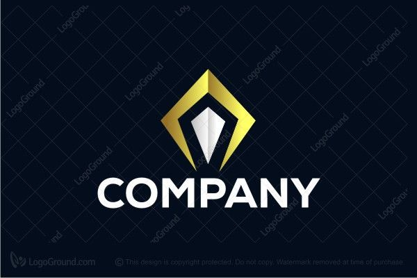 Logo for sale: Letter A Luxury Gold Logo