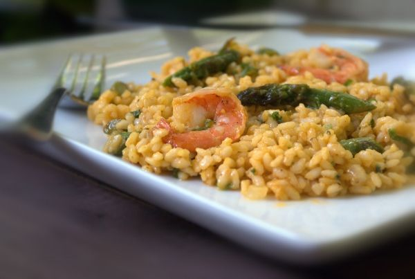 Asparagus and Shrimp Risotto | Cooking with a Twist | Pinterest