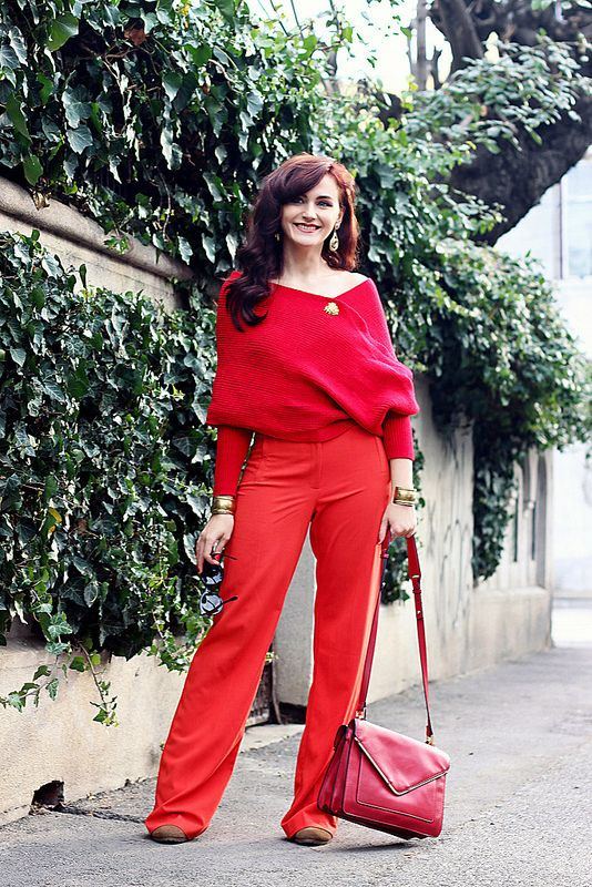 All red outfit #springoutfit
