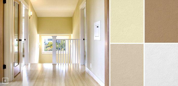 Inbetween Rooms: Hallway Paint Colors | Benjamin Moore Golden Straw