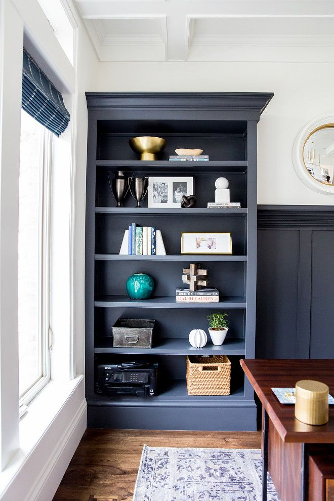 """This color is the perfect blend of navy/charcoal – """"Cheating Heart Benjamin Moore"""" #CheatingHeartBenjaminMoore"""