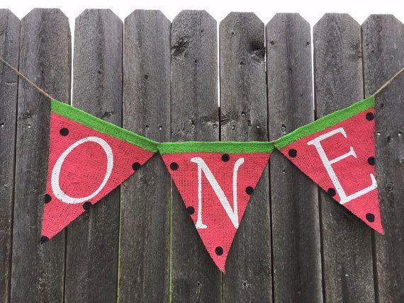 WATERMELON FIRST BIRTHDAY Watermelon Party by TwoChikkadees