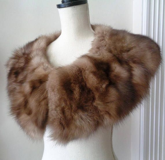 New Collection Genuine Sable Fur Stole Scarf Ladies Warm