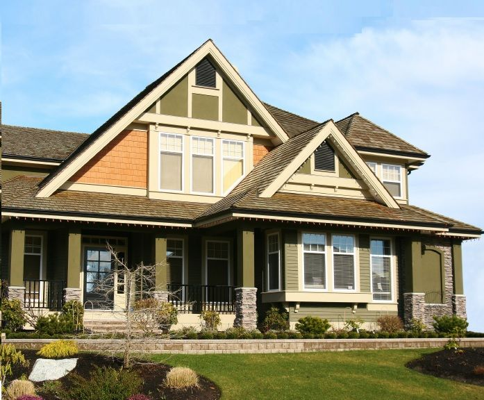 Delightful Wonderful Exterior House Painting With Green Color, Exterior Paint Color  Schemes, Exterior House Paint ~ Home Design