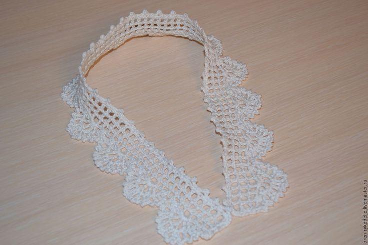 Купить воротничок ажурный вязаный крючком - воротничок ажурный, воротнички купить, вязаный воротник, воротник
