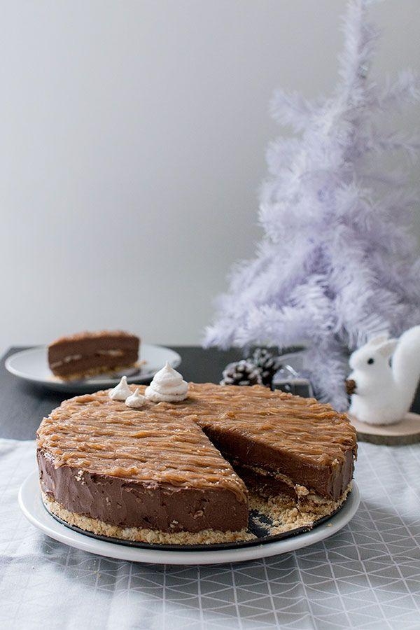 Recette de Cheesecake de Noël : chocolat, meringue, crème de marrons