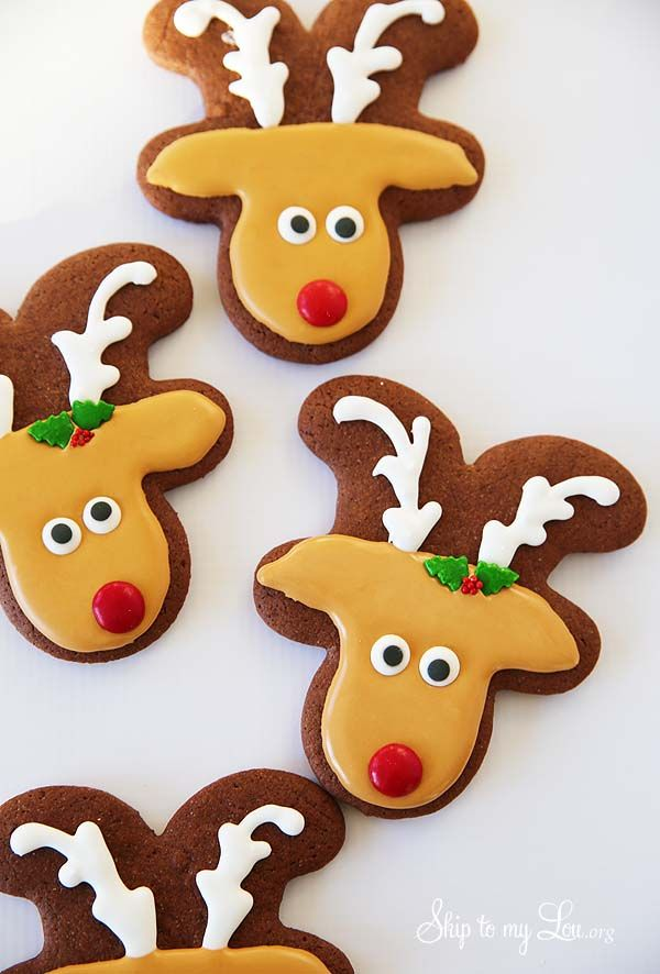 These Reindeer Sugar Cookies are perfect for your holiday celebrations. Make a plate for a neighbor. Your kids will be thrilled with these cute chocolate cookies.