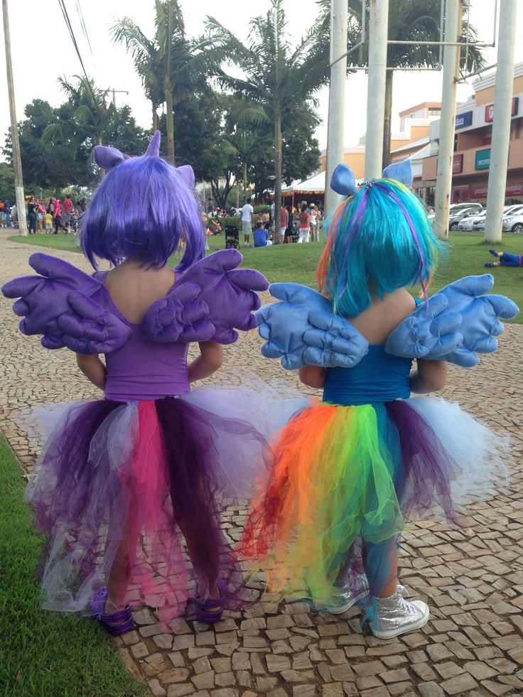 My Little Pony Costume. Twilight Sparkle and Rainbow Dash.