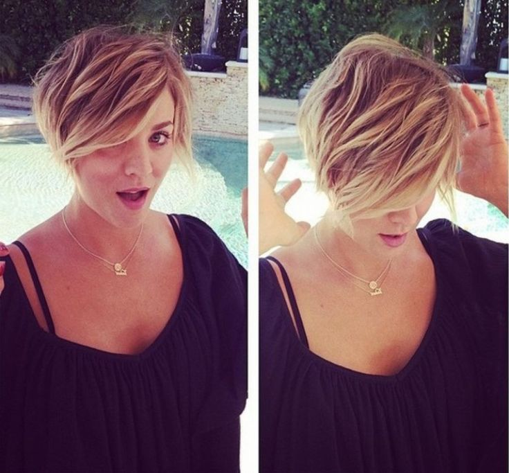 Kaley Cuoco Short Hair Haircut Pinterest Pictures